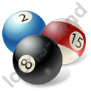 Billiard Balls Colored Icon