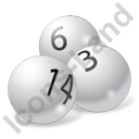Billiard Balls White Icon