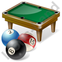 Billiard Table Balls Icon, PNG/ICO, 128x128