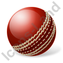 Cricket Ball Icon, PNG/ICO, 128x128