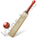 Cricket Bat Ball Icon, PNG/ICO, 128x128