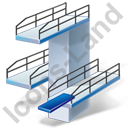 Diving Diving Tower Icon, PNG/ICO, 128x128