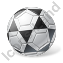 Futsal Ball Grey Icon, PNG/ICO, 128x128