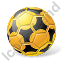 Futsal Ball Yellow Icon, PNG/ICO, 128x128