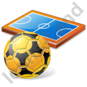 Futsal Pitch Ball Icon, PNG/ICO, 128x128