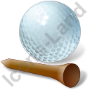Golf Tee Ball Icon, PNG/ICO, 128x128