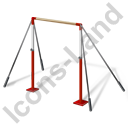Gymnastics Horizontal Bar Icon, PNG/ICO, 128x128