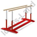 Gymnastics Parallel Bars Icon, PNG/ICO, 128x128