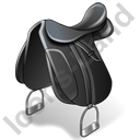 Horseback Riding Saddle Icon, PNG/ICO, 128x128