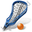 Lacrosse Stick Ball Icon, PNG/ICO, 128x128