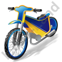 Moto Racing Speedway Motorcycle Icon, PNG/ICO, 128x128