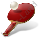 PingPong Racket Ball Icon, PNG/ICO, 128x128