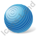 Rhythmic Gymnastics Ball Icon, PNG/ICO, 128x128