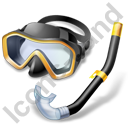 Snorkeling Diving Mask Snorkel Icon