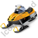 Snowmobile Racing Snowmobile Icon, PNG/ICO, 128x128