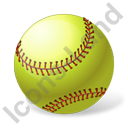 Softball Ball Icon, PNG/ICO, 128x128