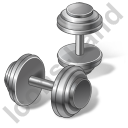 Weight Training Dumbbells Icon