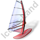 Windsurfing Windsurfboard Red Icon, PNG/ICO, 128x128