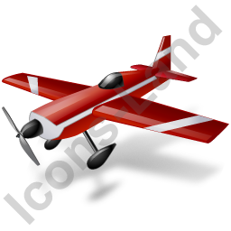 Air Racing Aircraft Icon, PNG/ICO, 256x256