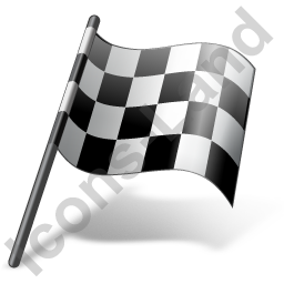 Auto Racing Finish Flag Icon