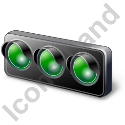 Auto Racing Start Lights Icon, PNG/ICO, 256x256