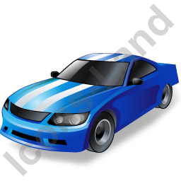 Auto Racing Touring Car Icon, PNG/ICO, 256x256