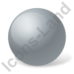 Ball Grey Icon, PNG/ICO, 256x256