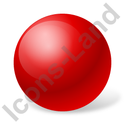 Ball Red Icon, PNG/ICO, 256x256