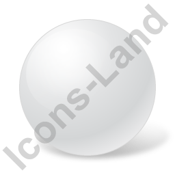 Ball White Icon