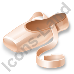 Ballet Pointe Shoe Icon