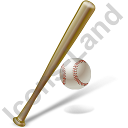 Baseball Bat Ball Icon