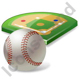 Baseball Field Ball Icon, PNG/ICO, 256x256