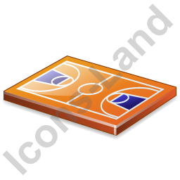 Basketball Court Icon, PNG/ICO, 256x256
