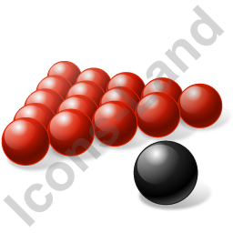 Billiard Balls Black Red Icon