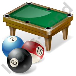 Billiard Table Balls Icon, PNG/ICO, 256x256