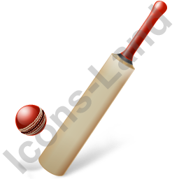 Cricket Bat Ball Icon, PNG/ICO, 256x256