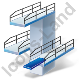 Diving Diving Tower Icon, PNG/ICO, 256x256