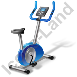Fitness Stationary Bicycle Icon