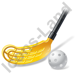 Floorball Stick Ball Icon