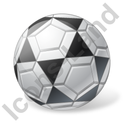 Futsal Ball Grey Icon, PNG/ICO, 256x256