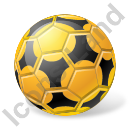 Futsal Ball Yellow Icon, PNG/ICO, 256x256