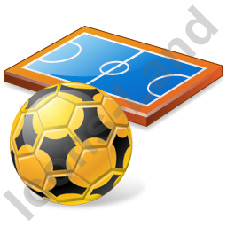 Futsal Pitch Ball Icon, PNG/ICO, 256x256