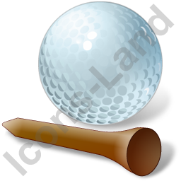 Golf Tee Ball Icon, PNG/ICO, 256x256