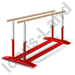 Gymnastics Parallel Bars Icon, PNG/ICO, 256x256