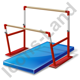 Gymnastics Uneven Parallel Bars Icon