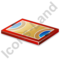 Handball Court Icon, PNG/ICO, 256x256