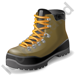 Hiking Boots Icon, PNG/ICO, 256x256
