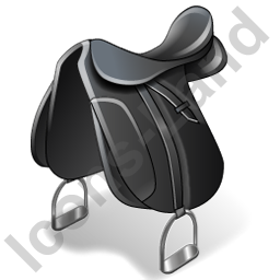 Horseback Riding Saddle Icon, PNG/ICO, 256x256
