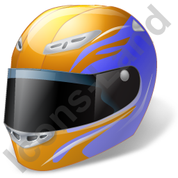 Moto Racing RoadRacing Helmet Icon