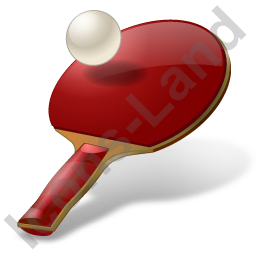 PingPong Racket Ball Icon, PNG/ICO, 256x256